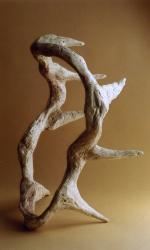 Couronne d'épines, H : 42 cm, plâtre patiné