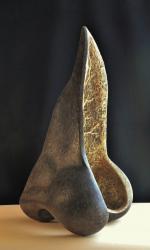Grand nez (ex voto) H = 75cm - Plâtre armé et patiné