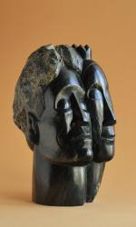 Le sculpteur et sa muse (portrait d'Alberto et Annette Giacometti), H = 23,5cm, Stéatite