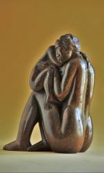 Mère et enfant, H = 22cm, Stéatite